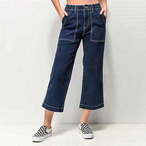 Unionbay Donni Wide Leg High Rise Crop Jeans Sz 5